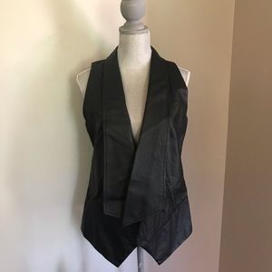 DKNY Faux Leather Vest